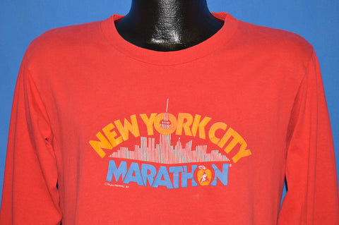 80s New York City Marathon Long Sleeve t-shirt Medium
