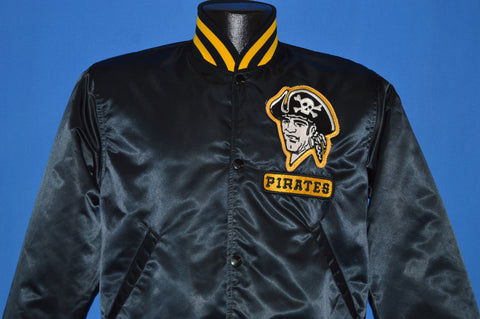 80s Pittsburgh Pirates Starter Satin Snap Up Jacket Small