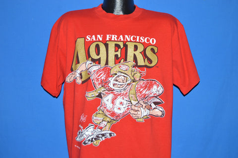 90s San Francisco 49ers Jack Davis Cartoon t-shirt Extra Large
