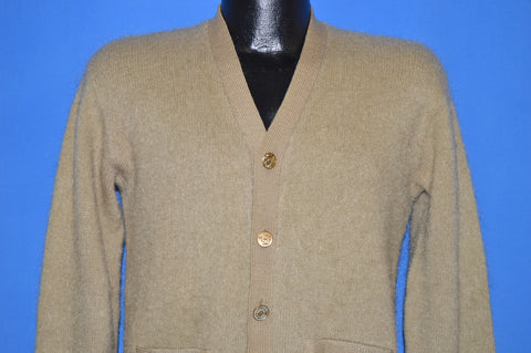 60s Glasgo Beige Mohair Cardigan Sweater Small