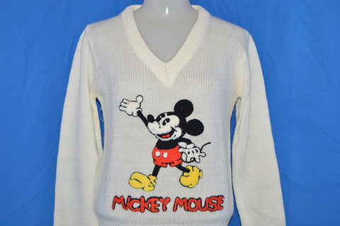 80s Mickey Mouse Disney Sweater Small