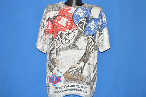 90s Super Bowl XXV NFL Football t-shirt Extra Large