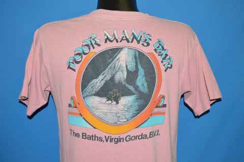80s Poor Man's Bar The Baths Virgin Gorda t-shirt Medium