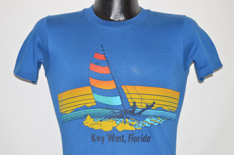80s Key West Florida Sailboat t-shirt Extra Small