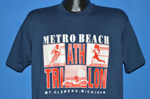 80s Metro Beach Michigan Athletic Triathlon t-shirt Large