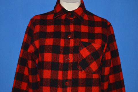 50s LL Bean Buffalo Plaid Wool Shirt Women's Small