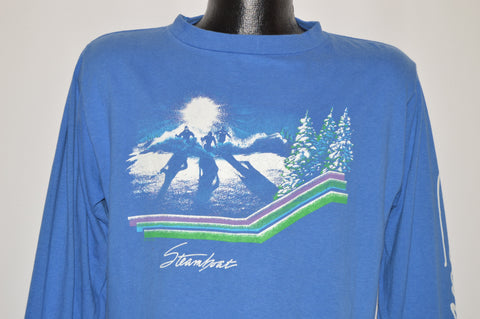 80s Steamboat Colorado Skiing Long Sleeve t-shirt LArge
