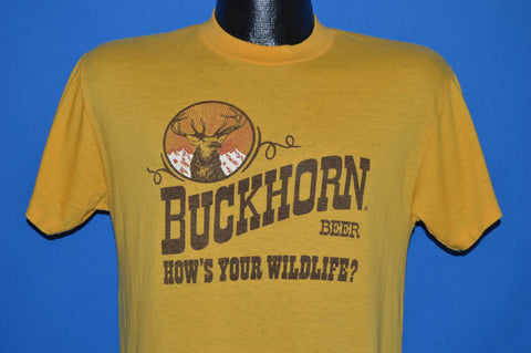 70s Buckorn Beer How's Your Wildlife t-shirt Medium