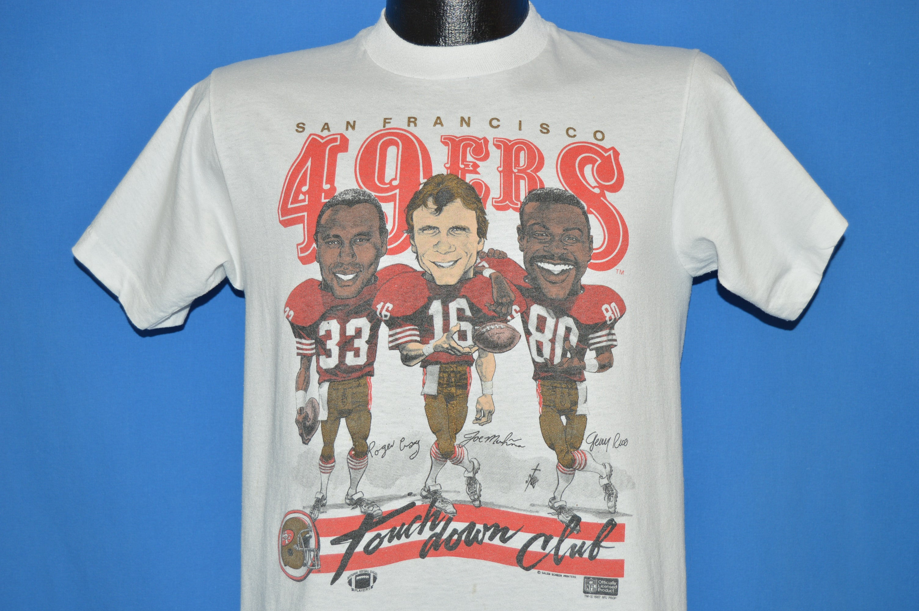 1eecd07e807 80s San Francisco 49ers Caricature t-shirt Small - The Captains Vintage