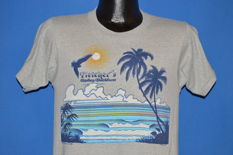 80s Fletcher's #1 Harley Davidson Sunset t-shirt Small