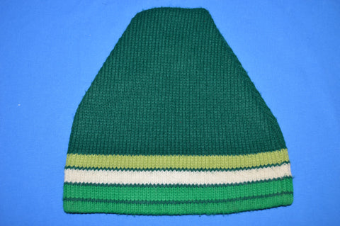 80s Green Striped Winter Hat
