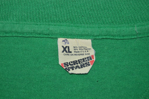 80s Kelly Green Blank t-shirt Extra Large