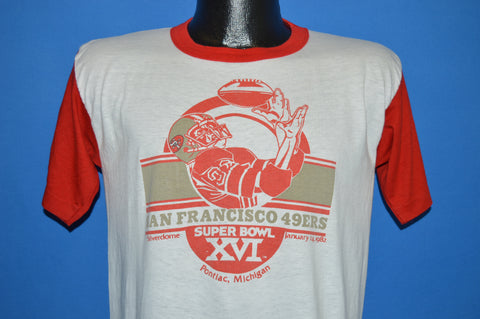 80s San Francisco 49ers Super Bowl XVI t-shirt Medium