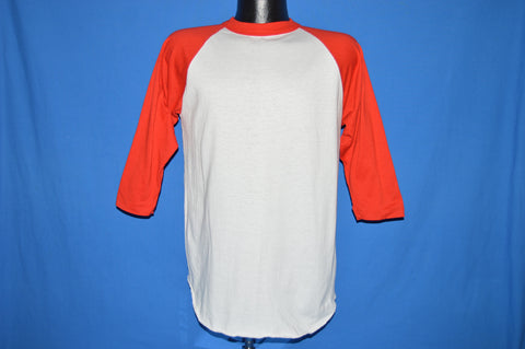 80s White Red Raglan Sleeves Jersey t-shirt Medium