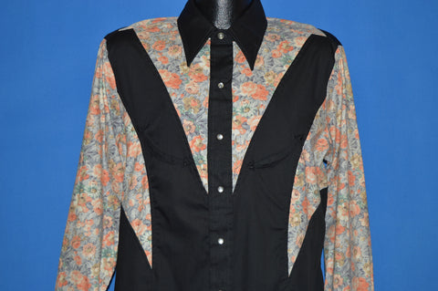 70s Larry Mahan Floral Western Shirt Extra Large