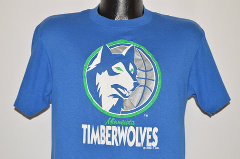 80s Minnesota Timberwolves NBA Logo t-shirt Medium