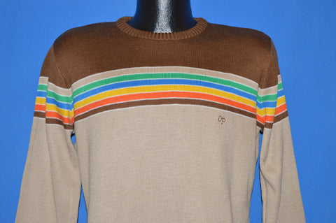 80s OP Ocean Pacific Rainbow Strip Sweater Large