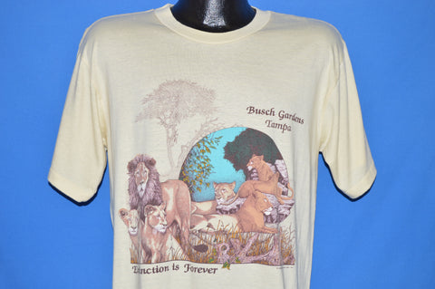80s Busch Gardens Tampa Lions t-shirt Large