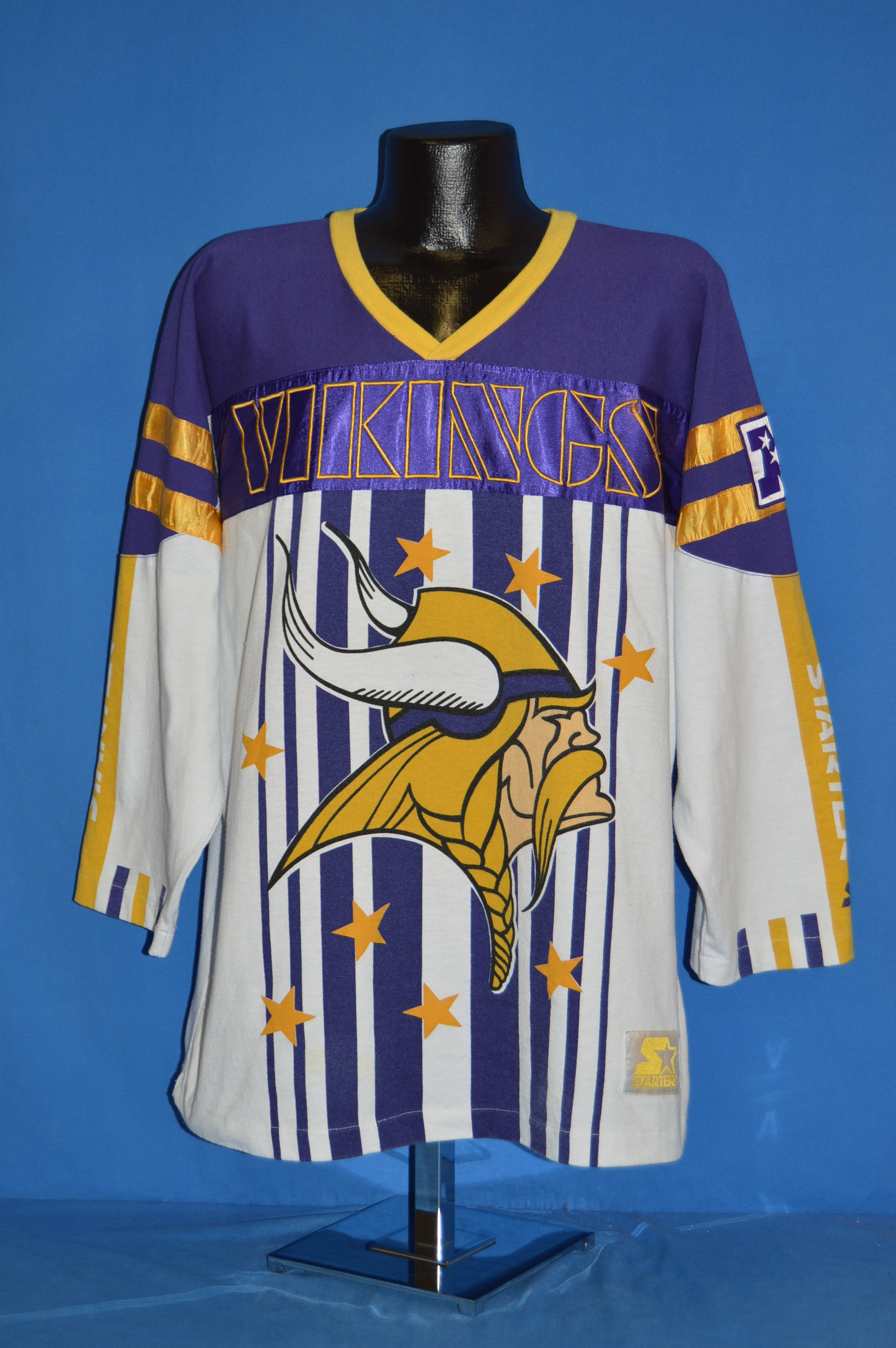 90s Minnesota Vikings Jersey Style t-shirt Large - The Captains Vintage 22dafc837