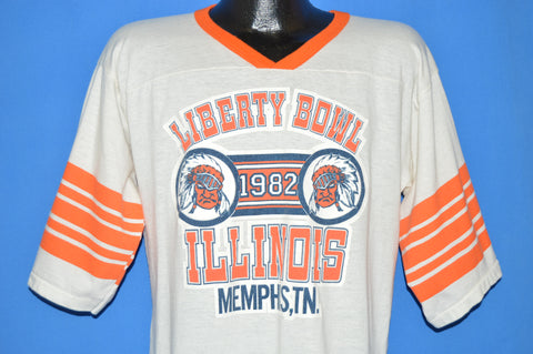 80s University of Illinois Liberty Bowl 1982 t-shirt Large