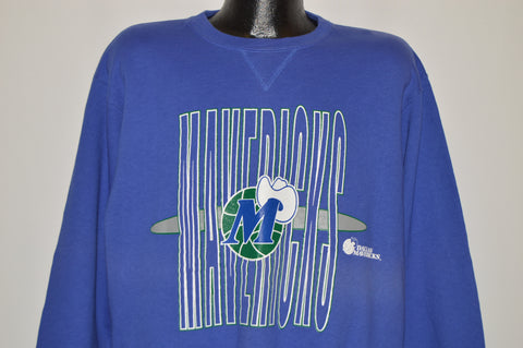 90s Dallas Mavericks NBA Long Sleeve Sweatshirt XXL