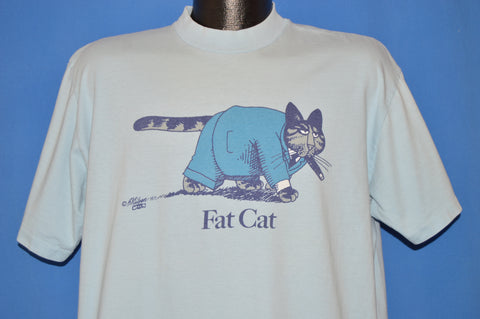 80s B Kliban Fat Cat Businessman t-shirt Extra Large