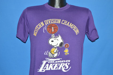 80s Los Angeles Lakers Snoopy Western Champs t-shirt Small
