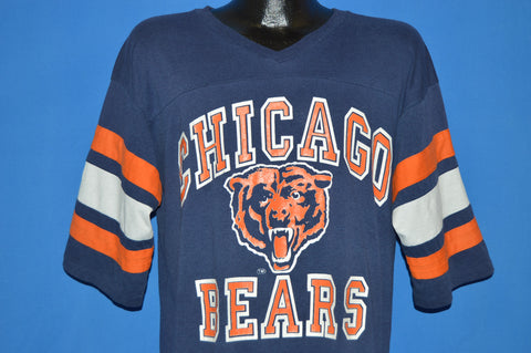 80s Chicago Bears V Neck Jersey t-shirt Extra Large