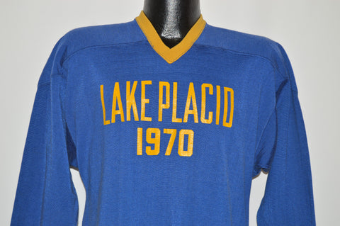 70s Lake Placid 1970 V-Neck #20 Jersey t-shirt Medium