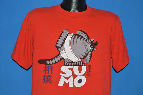 80s B Kliban Fat Cat Sumo Wrestler t-shirt Medium
