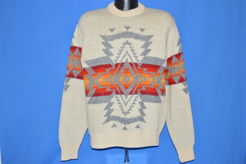 70s Pendleton Chief Joseph Wool Pullover Sweater Large