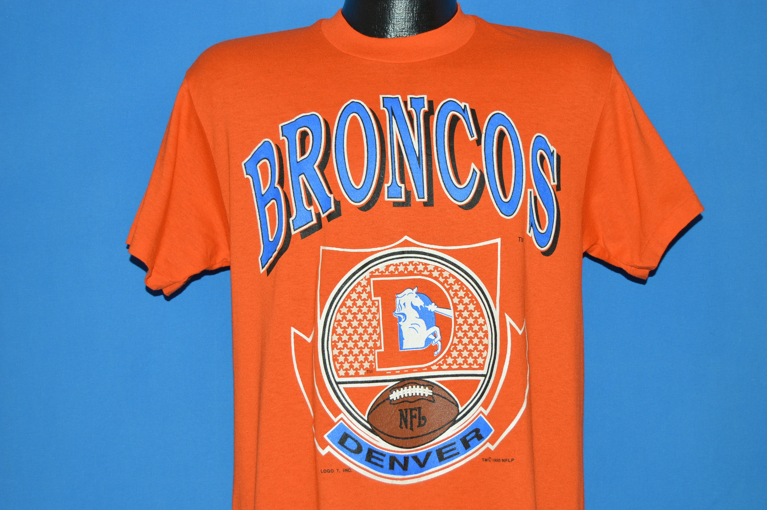 0da246fc 90s Denver Broncos NFL t-shirt Medium - The Captains Vintage