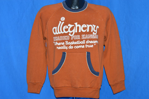 70s Allegheny College Women's Basketball Sweatshirt Medium