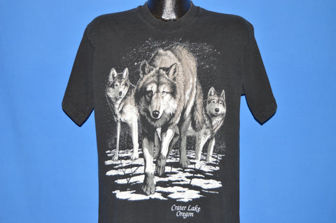 90s White Wolves Crater Lake Oregon t-shirt Large