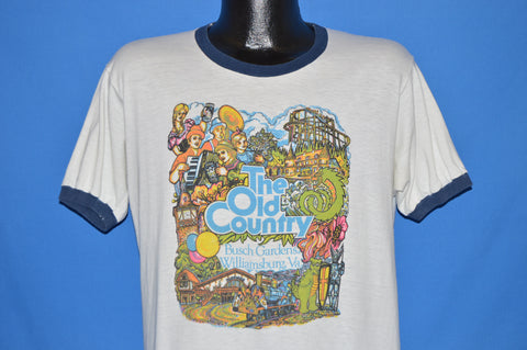 70s Busch Gardens Williamsburg Old Country Ringer t-shirt Large