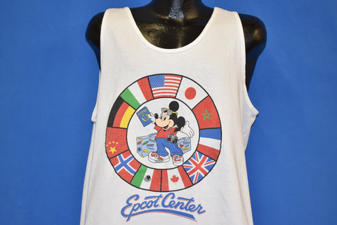 80s Mickey Mouse Epcot Center Tank Top t-shirt Extra Large