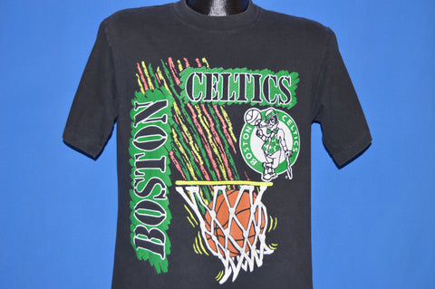 90s Boston Celtics Logo Neon Basketball t-shirt Large