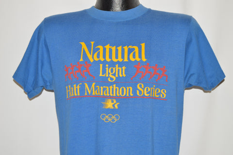 80s Natural Light Beer Half Marathon 1981 t-shirt Medium