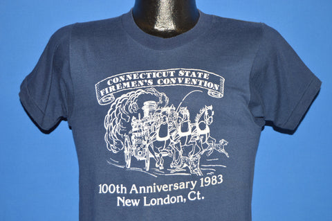 80s Connecticut State Fireman's Convention 1983 t-shirt Small