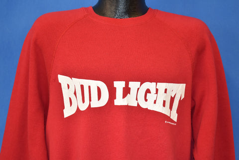 90s Bud Light Beer Red Sweatshirt Extra Large