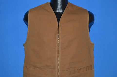 90s Fleece Lined Zip Front Vest Medium