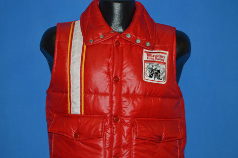 70s Winston Drag Racing Puffy Down Ski Vest Small