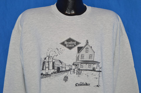 90s Reading Lines Railroad Sweatshirt Extra Large