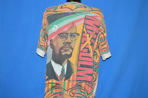 90s Malcolm X Double Sided African Print t-shirt Extra Large