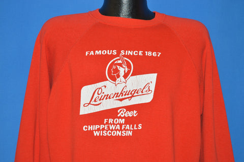 80s Leinenkugel Beer Chippewa Sweatshirt Extra Large