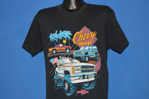 80s Chevy 4x4 Neon t-shirt Large