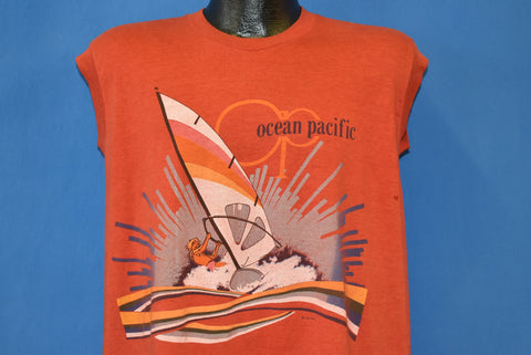 80s Ocean Pacific Rainbow Surfing Sleeveless t-shirt Large
