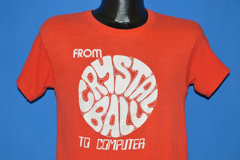 70s From Crystal Ball To Computer Forecasting t-shirt Small