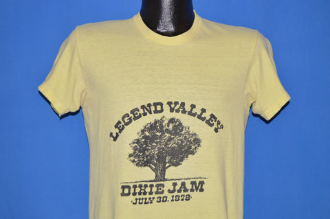 70s Legend Valley Dixie Jam 1978 Distressed t-shirt Medium