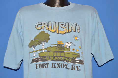 80s Snoopy Fort Knox t-shirt Extra Large